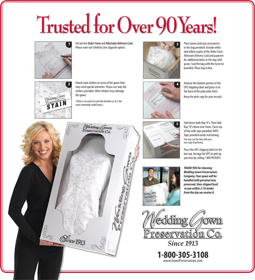 Celebrity Line Dress Preservation Kit